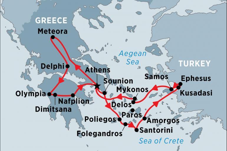 Delos Delphi Greece with Turkey by Land and Sea Trip