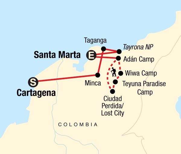 Caribbean Cartagena Colombia's Caribbean Coast & Lost City Trip