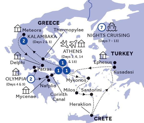 Athens Mykonos Grecian Fables Premier (Summer 2019) Trip