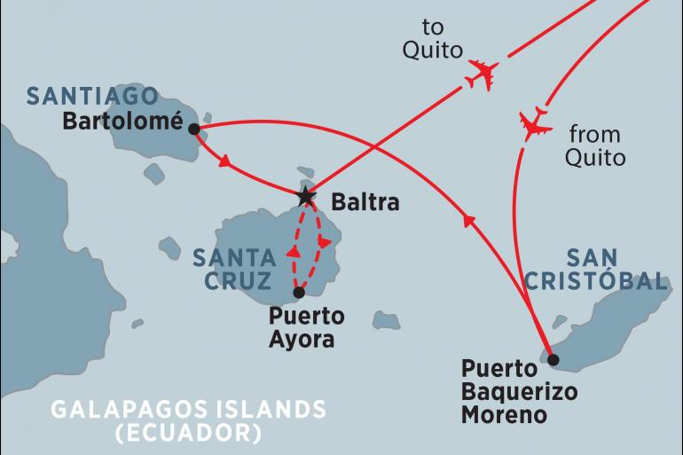 Isla Santiago Quito Galapagos Encounter: Central Islands (Grand Queen Beatriz) Trip