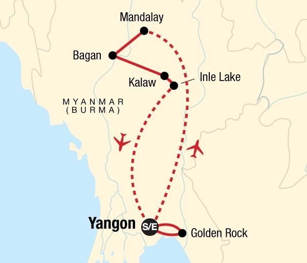 Bagan Mandalay Classic Myanmar Adventure Trip