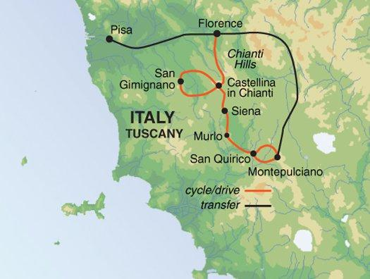 Cultural Culture Tuscany Cycle Siena & Chianti package