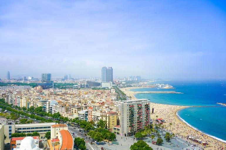 Beautiful Cityscape of Barcelona, Spain