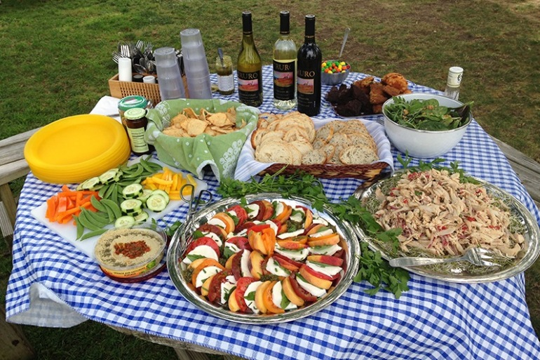Delicious picnic lunch in Harwich, United States