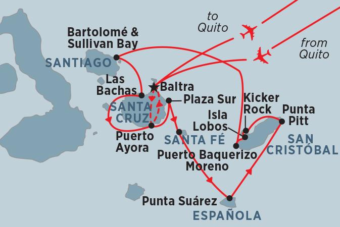 Isla Bartolome Isla Santiago Classic Galapagos: South Eastern Islands (Grand Queen Beatriz) Trip