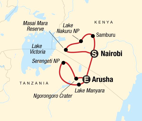 Arusha Lake Manyara National Park Kenya & Tanzania Camping Safari Trip