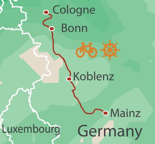 Koblenz Rudesheim Cologne to Mainz by Bike and Barge Trip