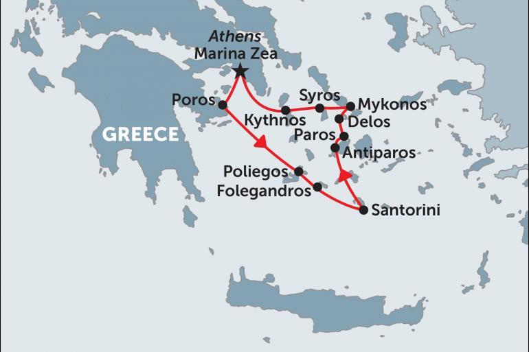 Delos Mykonos Greek Island Cruising (Jewels of the Cyclades) Trip