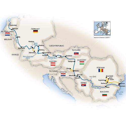 Grand European Cruise - Eastbound 2019 tour