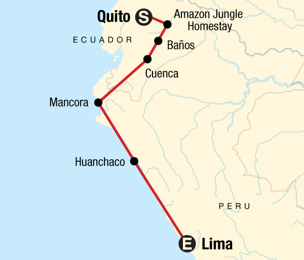 Cuenca Lima Quito to Lima Adventure Trip