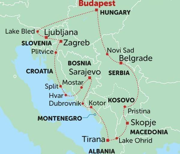 Adventure History Balkans Encompassed package