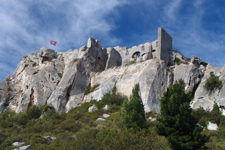 Fortress View of Les Baux-de-Provence, France