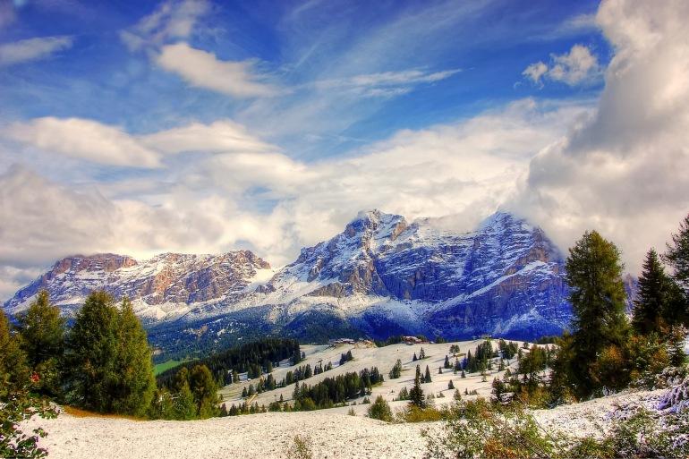 Stunnig view Dolomites Mountains,Italy