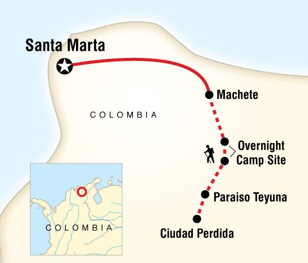Sierra Nevada Teyuna Colombia - Lost City Trekking Trip