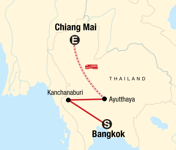 Ayutthaya Bangkok Bangkok to Chiang Mai Express Trip