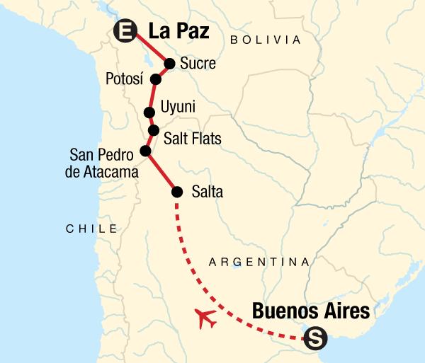 Atacama Desert Buenos Aires Buenos Aires to La Paz Adventure Trip
