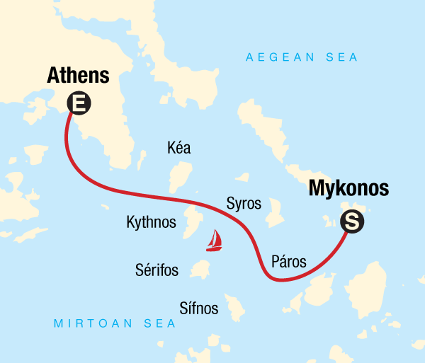 Athens Mykonos Sailing Greece - Mykonos to Athens Trip