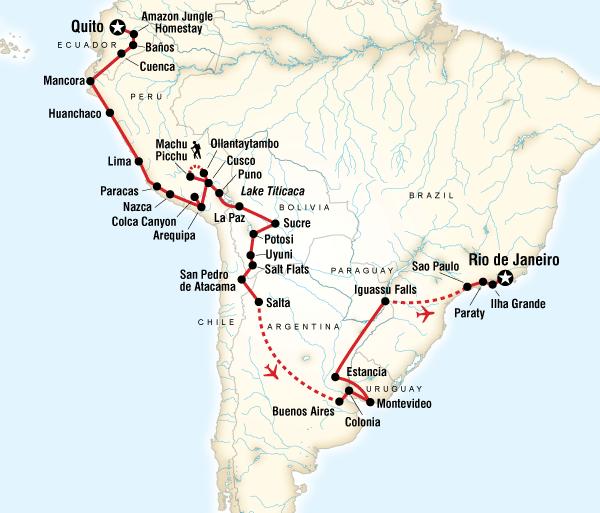 Arequipa Atacama Desert The Great South American Journey–Quito to Rio Adventure Trip