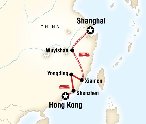 Hong Kong Shanghai Shanghai to Hong Kong Fujian Adventure Trip