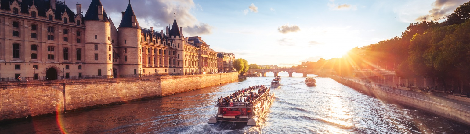 Sunset on a European river cruise