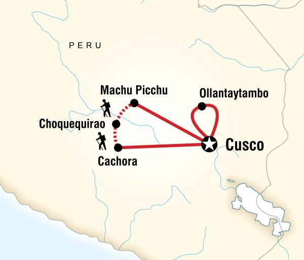 Aguas Calientes Cusco Choquequirao to Machu Picchu Trekking Trip