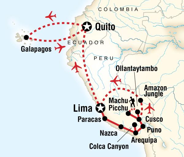Arequipa Cusco Absolute Peru & Galápagos Central Islands Trip