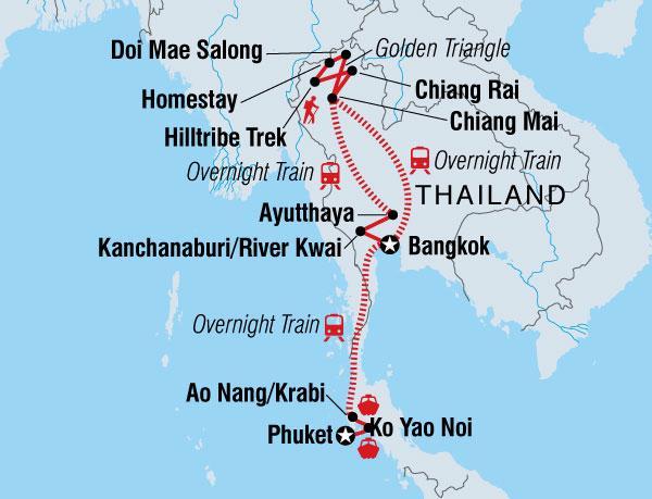 Chiang Mai Chiang Rai Thailand Adventure West Coast (Nov - Apr) Trip