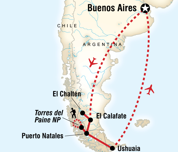 Buenos Aires El Calafate End of the Earth Trip