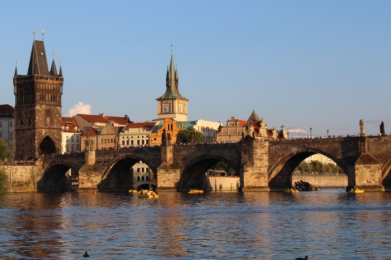 Charles Bridge view of Czech Republic, Europe