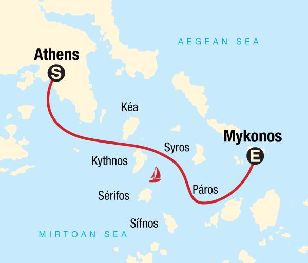 Athens Mykonos Sailing Greece - Athens to Mykonos Trip