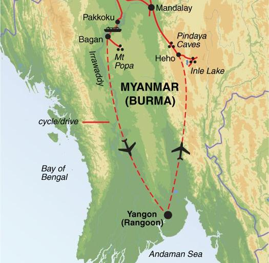 Cultural Culture Cycle Myanmar (Burma) package