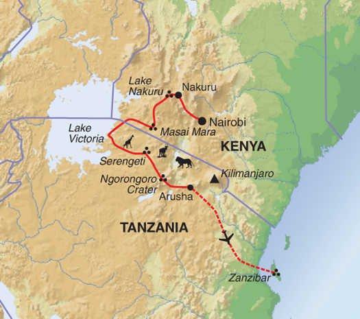 Nature & Wildlife Nature Kenya & Tanzania Adventure package