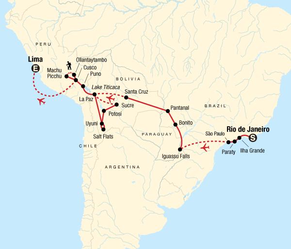 Copacabana Cusco Southern Cross Westbound - Rio to Lima Trip