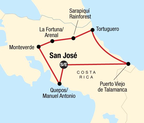 Arenal Volcano Caribbean Costa Rica Adventure Trip