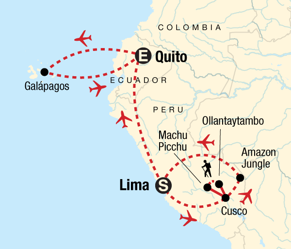 Cusco Guayaquil Amazon to the Andes & Galápagos South & Central Islands Trip