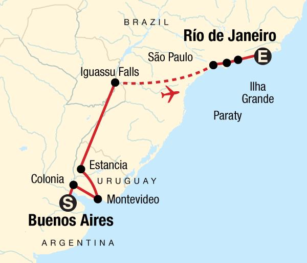Buenos Aires Colon In Search of Iguassu–Buenos Aires to Rio Trip