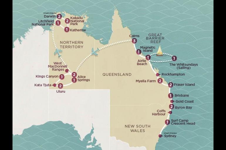 Alice Springs Brisbane Grand Aussie Trip