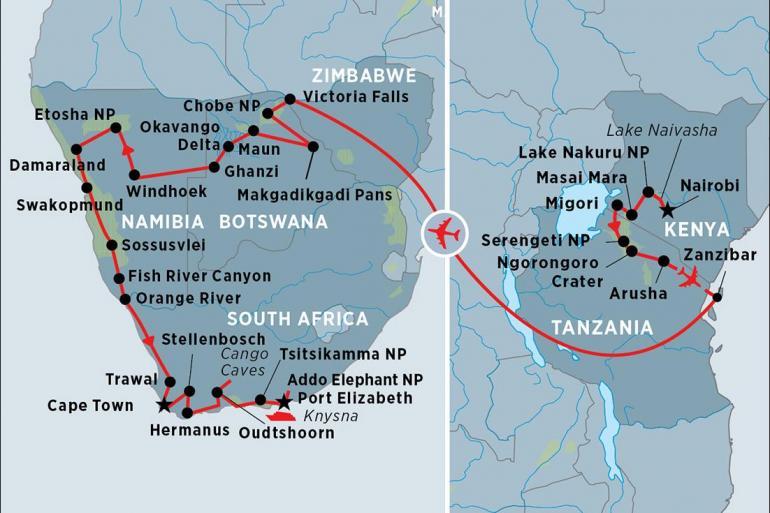 Chobe National Park Johannesburg Grand Africa: Nairobi to Port Elizabeth Trip