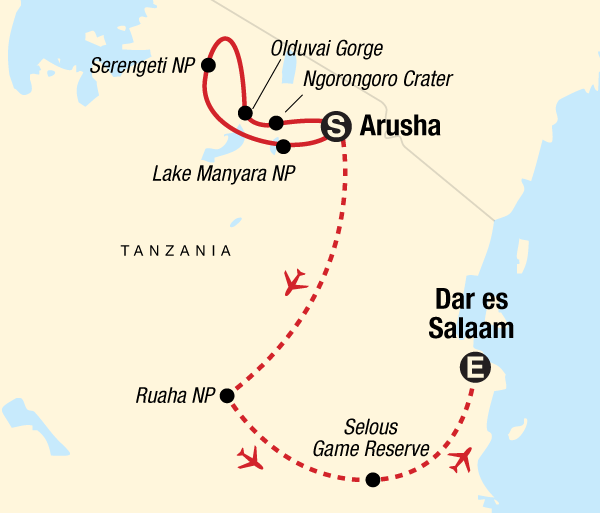 Arusha Lake Manyara National Park Wildlife Parks of Tanzania Trip