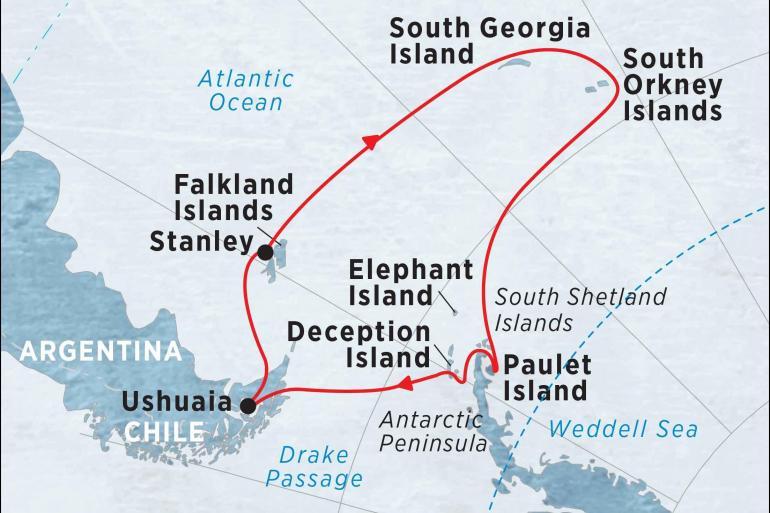 Cultural Culture Antarctic Peninsula, Falkland Islands & South Georgia from Ushuaia package