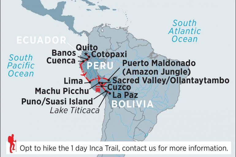 Cusco La Paz Ecuador, Peru & Bolivia Trip