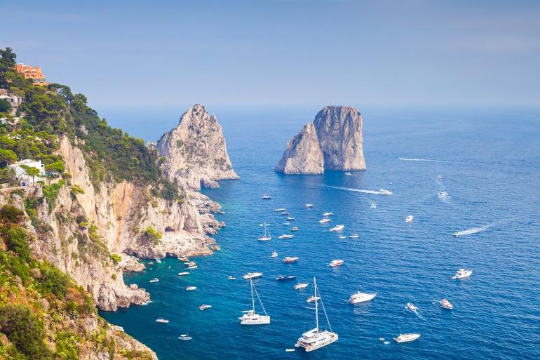 Stunning view of Capri Island, Italy