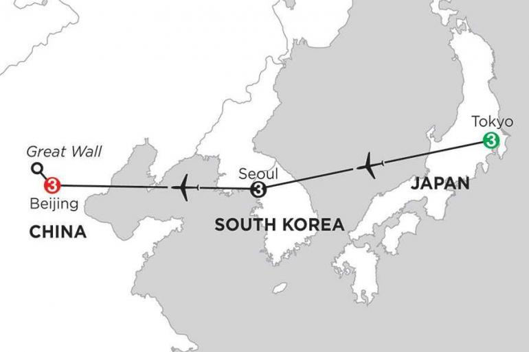 Beijing Tokyo Tokyo, Seoul & Beijing Trip