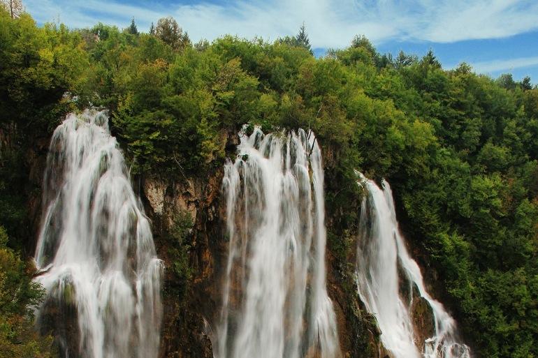 Big waterfall Kozjak waterfall, Slovenia