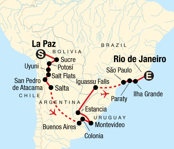 Buenos Aires Colon Journey from Bolivia to Brazil Trip