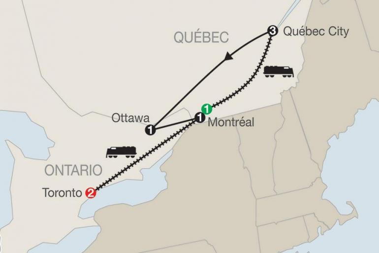 Montreal Ottawa Québec Winter Carnival with Toronto Trip