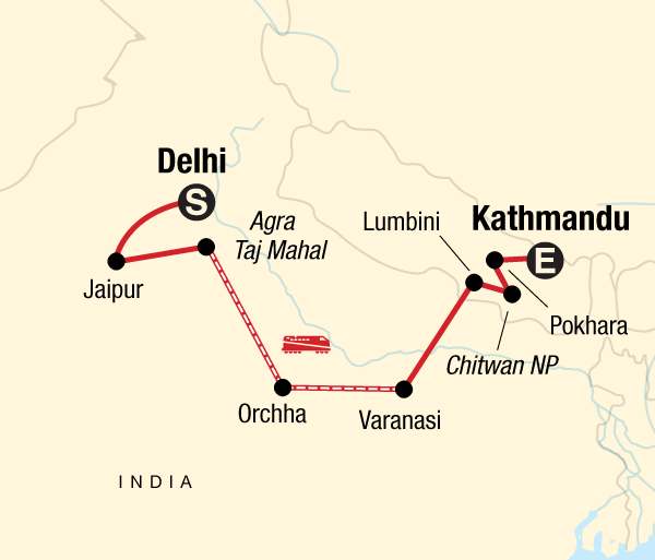 Agra Agra Fort Delhi to Kathmandu Adventure Trip