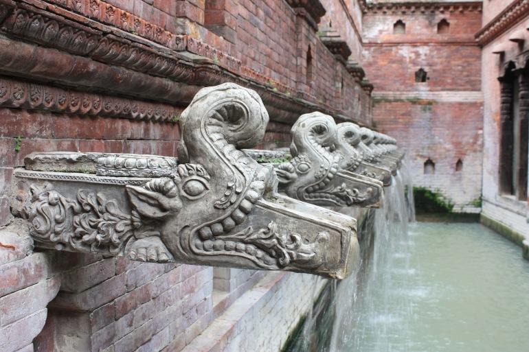 Kathmandu Architecture water, Nepal