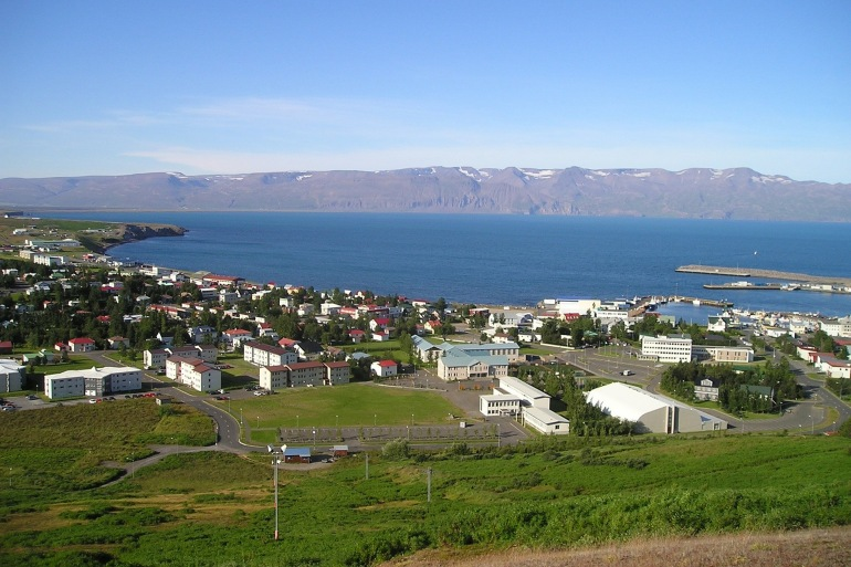 Stunning view of reykjavik city, Iceland