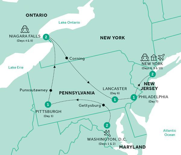 Gettysburg New York Classic Mid-Atlantic (Summer 2019) Trip